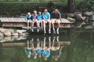 the heine family // a morning at the lake